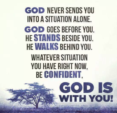 God is with you